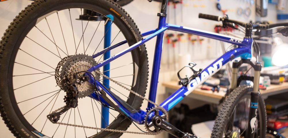 Giant XTC hajtáskar átalakítás, képgaléria –a felfüggesztett kerékpár