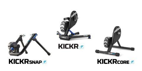 A három Wahoo KICKR biciklis görgő