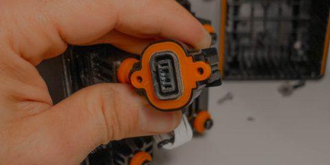 eBike akkumulátor töltőcsatlakozój