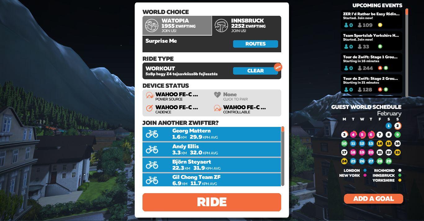 Ride Type: Workout