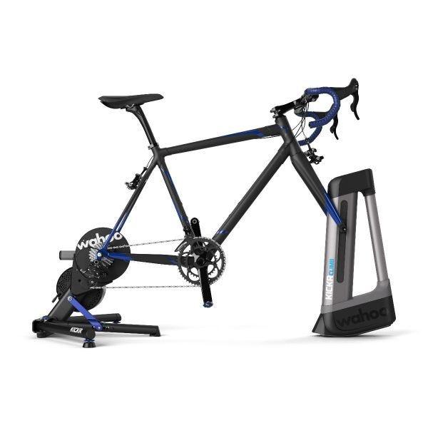 Wahoo KICKR K.O.M. beltéri kerékpáros edző szett edzésre készen