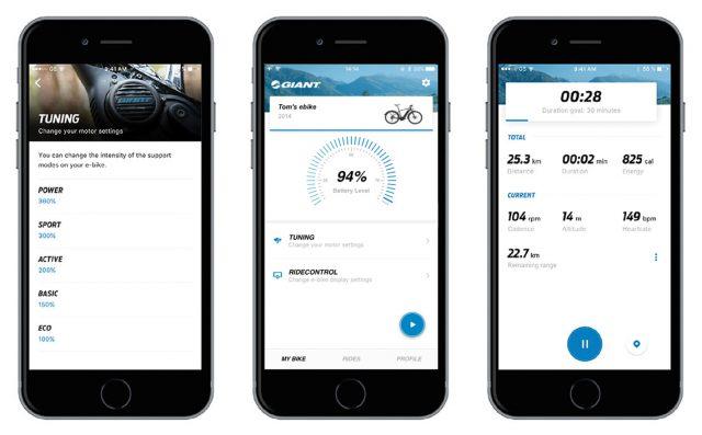Giant RideControl e-Bike applikáció