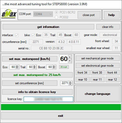 Az eMax alkalmazás felhasználói felülete