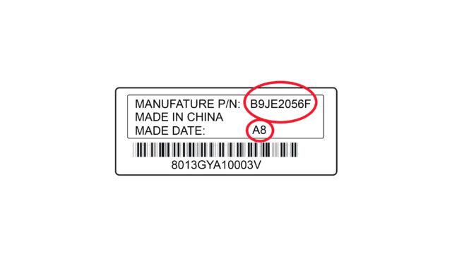 Levo akkumulátor termékszám és kód
