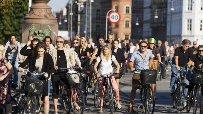 Koppenhága - kerékpáros átkelés